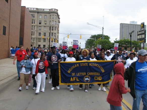 Michigan State Association of Letter Carriers at Labor Day Parade