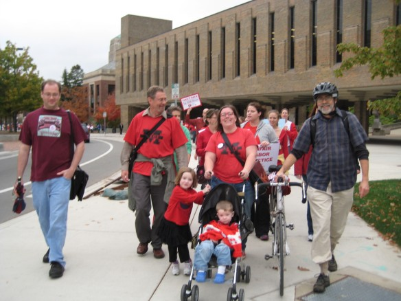 WCAT Members at Nurses' March