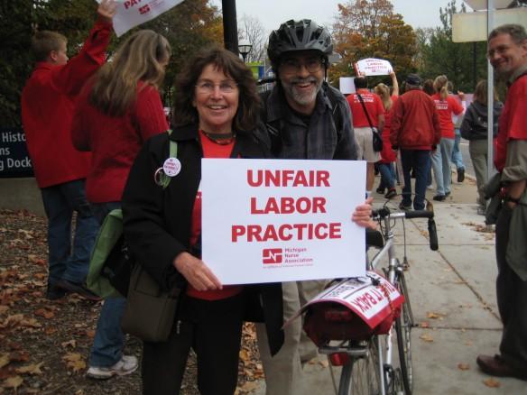 WCAT members support U-M Nurses